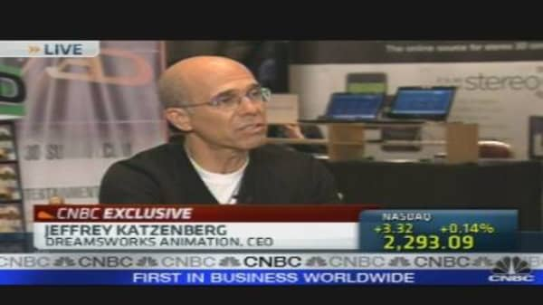 Katzenberg on Dreamworks' Big 3D Bet