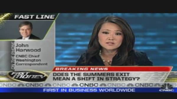 Summers Exit Mean Shift in Strategy?