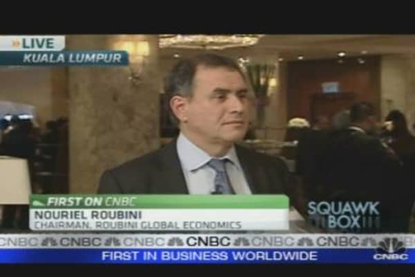 Expect a Slow and Anemic Recovery: Roubini