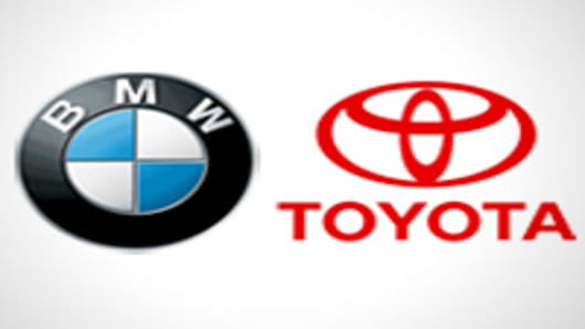 BMW and Toyota logos