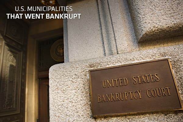When a company or individual files for bankruptcy, they are in a state of insolvency: Unable to pay their debts, they require legal protection to relieve or restructure outstanding obligations. Although it's much more common for these private parties to declare bankruptcy, U.S. public entities such as towns, counties and other municipal agencies in financial straits can also file for bankruptcy protection under Chapter 9. On June 28, Stockton, Calif., pop. 290,000, became the largest U.S. city t