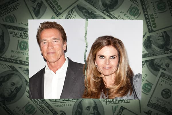 In another highly publicized divorce, movie star and former California Governor, Arnold Schwarzenegger and his wife of 25 years, Maria Shriver split after it was revealed that Schwarzenegger had fathered a child with a member of the couple's domestic staff. Since the couple did not have a prenuptial agreement, Schwarzenegger was required under California law to hand over half of his wealth to Shriver, that that he was willing to give an even more generous sum in order to demonstrate that he was