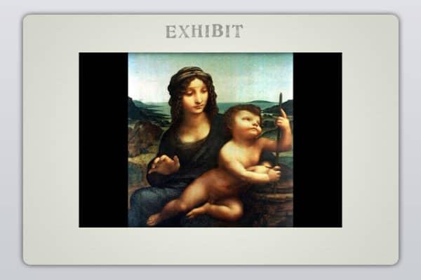 "Leonardo Da Vinci, ""Madonna of the Yarnwinder"""