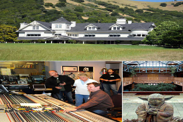 """Skywalker Ranch is the headquarters of the filmmaker George Lucas, the man behind """"Star Wars"""" and """"Indiana Jones,"""" franchises so lucrative that they've given him a net worth of  The ranch, on a bucolic parcel of land in Marin County, Calif., has a barn, vineyards and garden."""