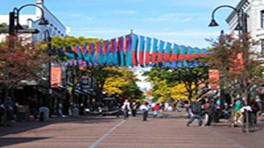 Church Street Marketplace. Burlington, VT
