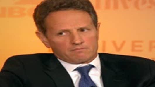 Tim Geithner speaking at Delivering Alpha