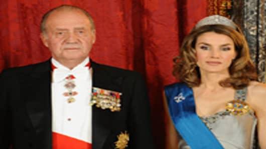 King Juan Carlos of Spain and Princess Letizia of Spain.