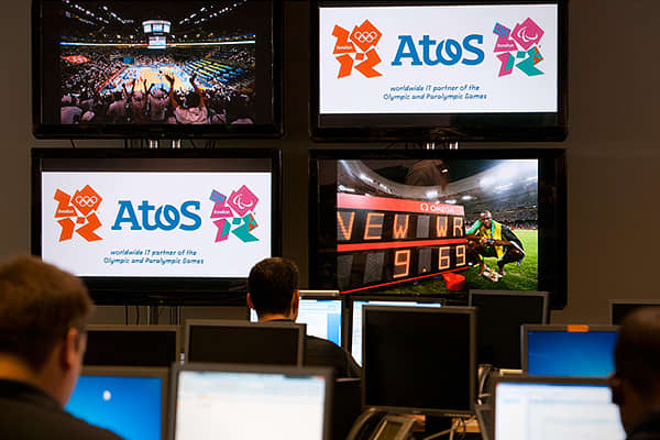 Atos had a team of about 330 people in London during the Summer Games in 2012.