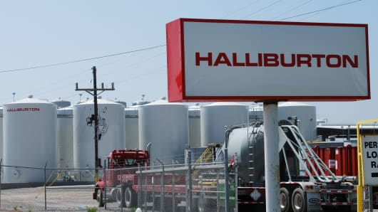 A Halliburton facility in Port Fourchon, Louisiana.