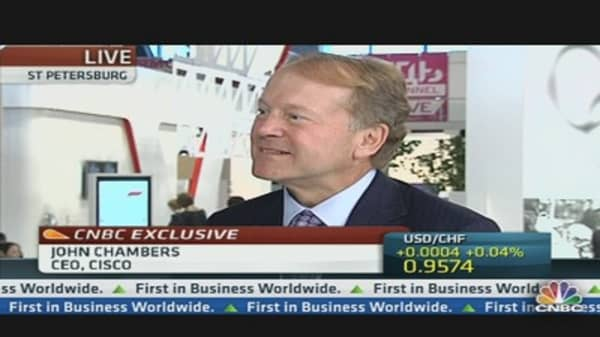 Invest 'When Things Are Slowing': Cisco CEO