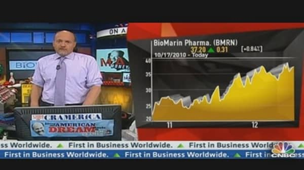 Cramer Examines BioMarin Pharmaceuticals
