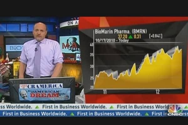 Cramer Examines BioMarin Pharmaceuticals