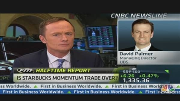 Is Starbucks Momentum Trade Over?