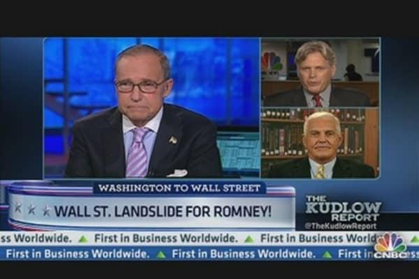 Wall Street Votes Romney Landslide
