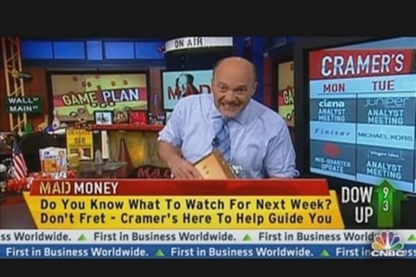 Cramer's Plan of Attack for Next Week