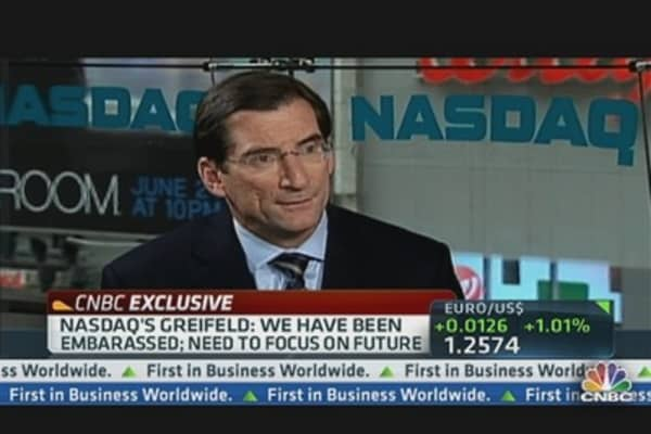 Nasdaq's Greifeld: We Have Been 'Embarrassed'