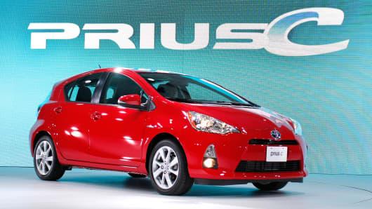 The Toyota Prius C.