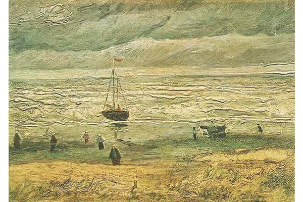 """It was a cold December day in 2002 when two thieves used a ladder to climb to the roof of the Vincent Van Gogh Museum in Amsterdam, the FBI reports. From the roof, the men broke into the museum and managed to steal two Van Gogh paintings in a matter of minutes, the FBI said. Van Gogh's """"View of the Sea at Scheveningen,"""" pictured here and """"Congregation Leaving the Reformed Church in Nuenen"""" were both taken.Dutch police convicted two men in connection with the crimes in December 2003, but the pain"""