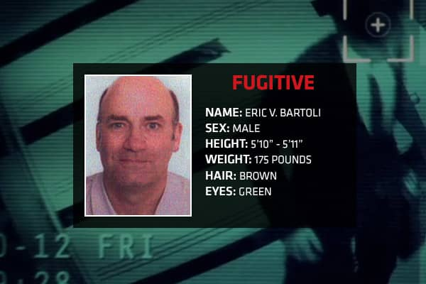 Charges: Conspiracy, securities fraud, sale of unregistered securities, wire fraud, mail fraud, money laundering, attempted income tax evasion Eric Bartoli is wanted by the FBI for his alleged involvement in a Ponzi scheme that defrauded over 800 investors in the U.S. and Latin America. Between 1995 and 1999, Bartoli allegedly operated Cyprus Funds, Inc, which was based in Ohio and incorporated in Central America. Along with co-conspirators, Bartoli is alleged to have sold certificates of deposi