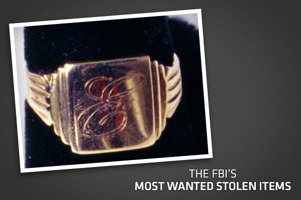 "Given today's volatile stock market and sluggish global economy, more wealthy Americans are opting for alternative investment strategies, such as collecting high-profile art and jewelry. In turn, the FBI said theft of such items has become a booming criminal enterprise.Clearly, there is high ""black market"" demand for the nation's most valuable national treasures, as the FBI estimates total losses amount to $6 billion annually. The high school class ring of Elvis Presley, pictured here, is just o"