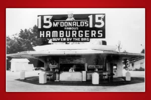 McDonald's Drive-In Re-Opened in 1948