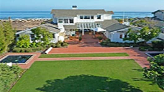 A private beachfront family compound in Carpinteria, California.