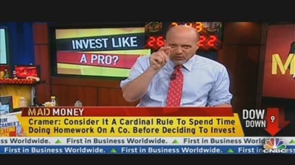Cramer Explains Short Selling