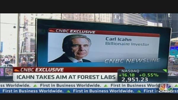 Icahn Takes Aim at Forest Labs