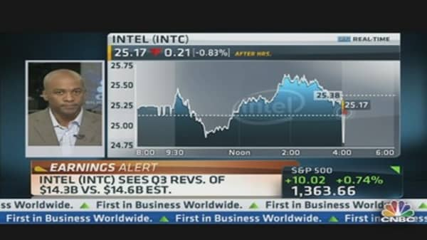 Intel Q2 EPS: $0.54 vs. $0.52 Est.