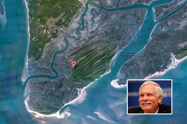 Owner: Ted TurnerPurchase Price: $2 millionMedia mogul Ted Turner, who is one of the largest private landholders in the U.S., bought St. Phillips Island, off the South Carolina coast in 1979 – a year before he launched CNN.The 5,512 acre-island of marsh and woodlands was a perfect fit for Turner, who is known for buying land and restoring it to its natural habitat. The purchase also included a 298-acre landing area on neighboring St. Helena island, which is inhabited by a group of Gullah descend