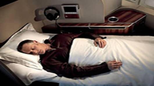 Qantas First Class International flight.