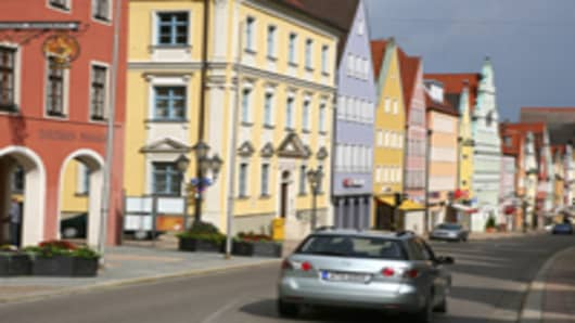 Reichsstrasse houses in historic centre.