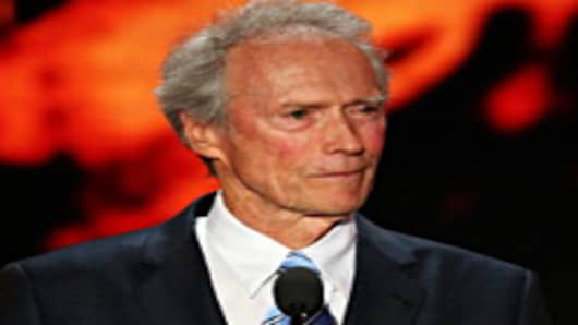 Actor Clint Eastwood speaks during the final day of the Republican National Convention.