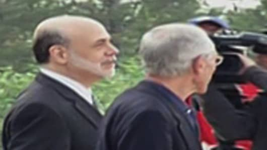 Ben Bernanke in Jackson Hole on August 31, 2012.