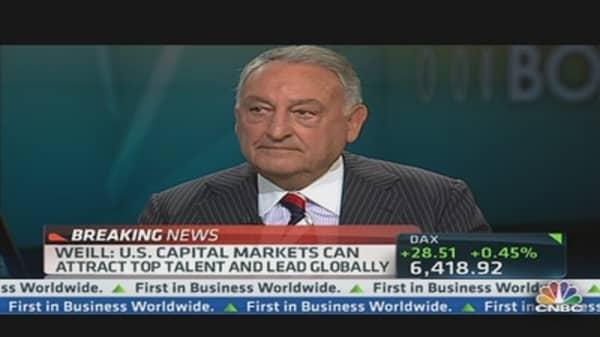 Wall Street Legend Weill: Breaking Up Big Banks