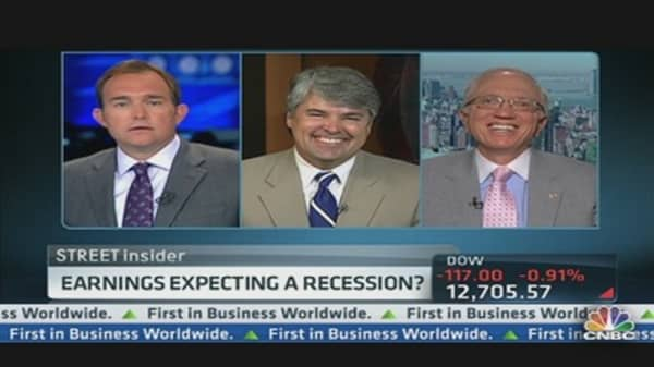 Earnings Expecting a Recession?