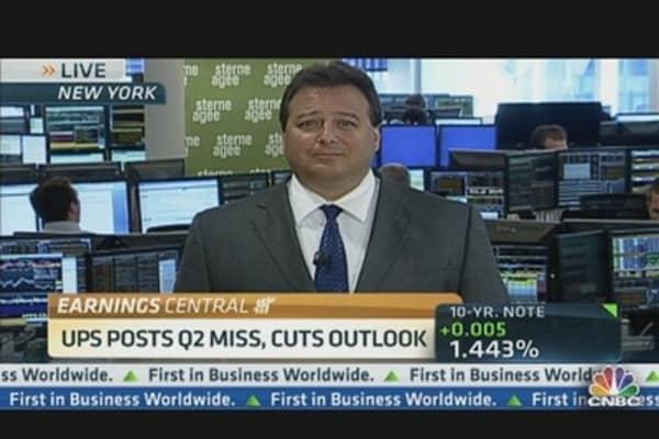 UPS Posts Q2 Miss & Cuts Outlook