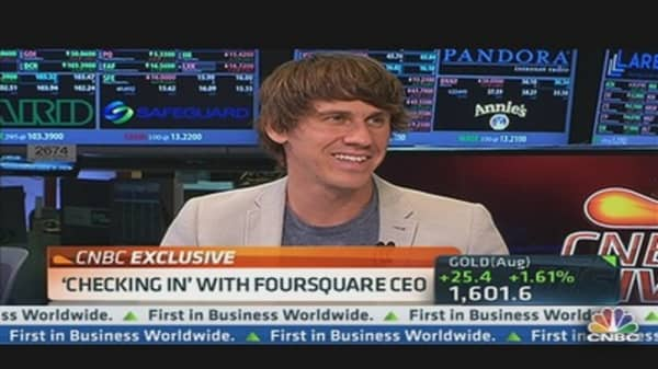 'Checking In' with Foursquare CEO