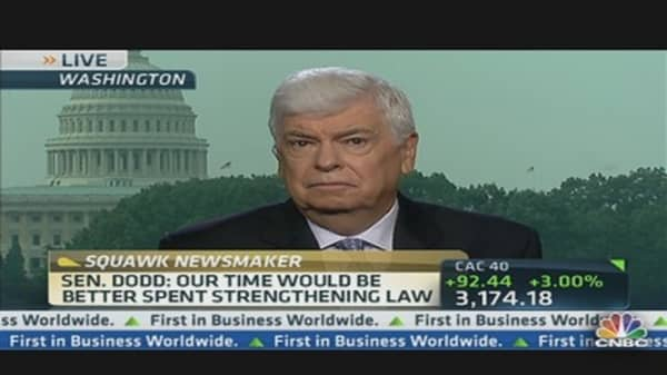 Sen. Dodd: Financial Reform Architect