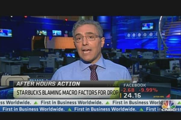 Starbucks Blaming Macro Factors for Drop