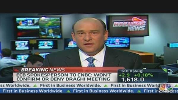 ECB Spokesman:  Won't Confirm or Deny Draghi Meeting