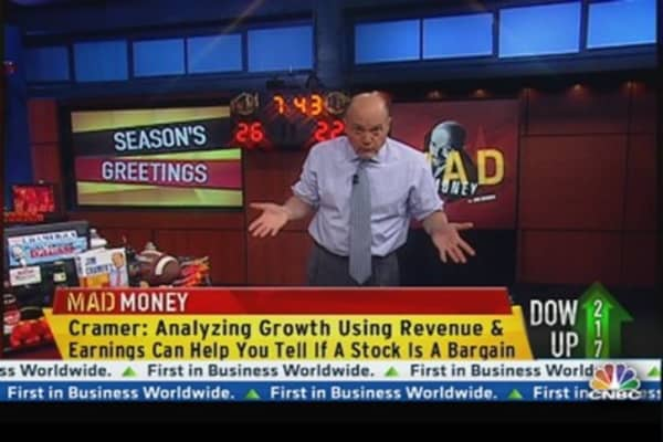 Cramer's Adding Perspective to the Earnings Season