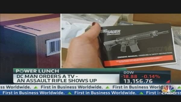 Man Orders TV, Gets Assault Rifle