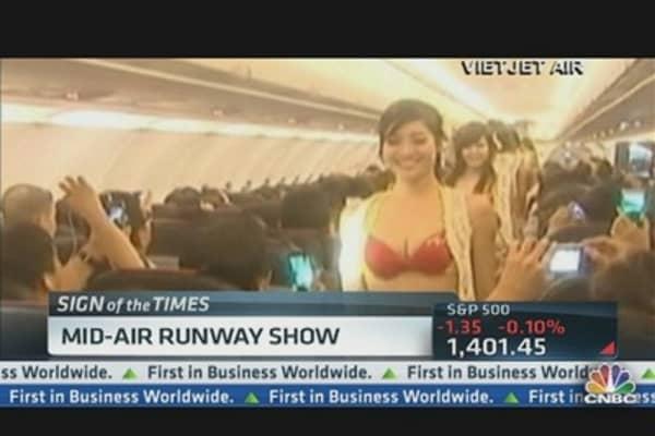 Mid-Air Bikini Runway Show Goes Viral