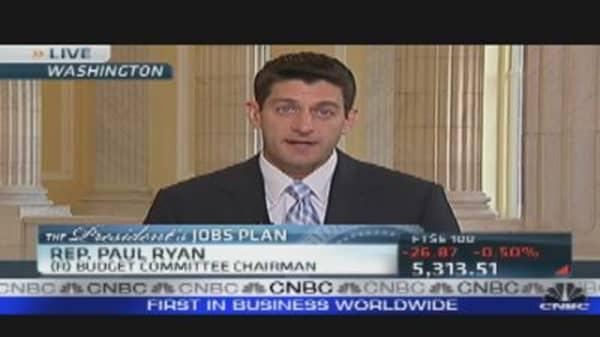 Paul Ryan's Reaction to Jobs Plan