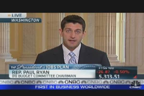 Paul Ryan's Reaction to Jobs Plan