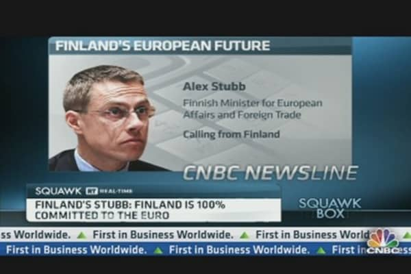 Finland Is 100% Committed to the Euro: Minister