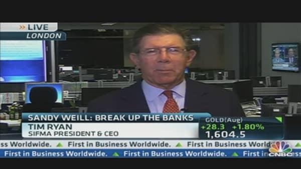 'Would Vigorously Oppose' Breaking Up Banks: Lobbyist
