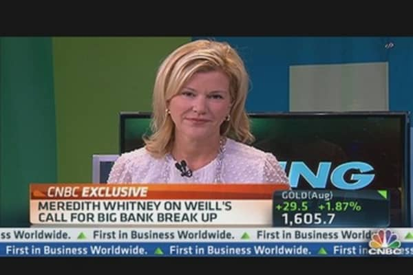 Meredith Whitney on Weill's Call for Big Bank Break Up