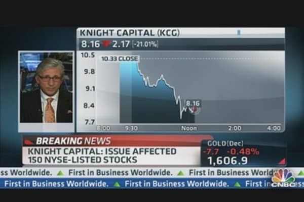 Knight Capital: Tech Issue Occurred in Market-Making Unit